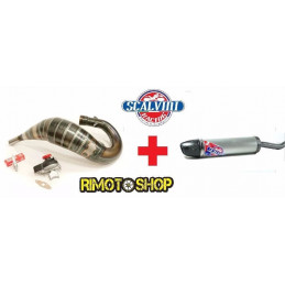 KIT POTENZIAMENTO HM125 RAVE2 SCALVINI SILENCER ALU-CARB exhaust Expansion TAR