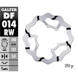 Disco freno Galfer Race Honda CR 250 95-07 anteriore-DF014RW-