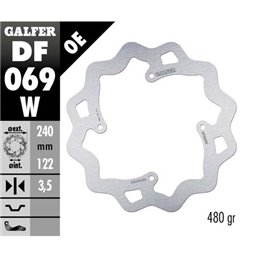 Disco freno Galfer Wave Honda CRF 450 R 02-19 posteriore-DF069W-