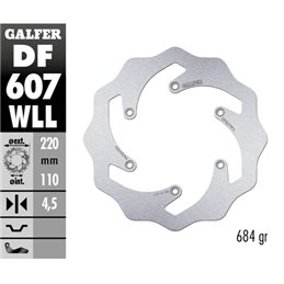 Disco freno Galfer Wave KTM 300 EXC 98-19 posteriore