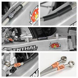 Tubo freno in treccia posteriore oem HUSQVARNA FC/FE/FX 350/450(pinza