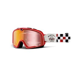 Goggles MX 100% BARSTOW OSFA - Lens MIRROR red
