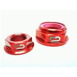 Coppia dadi perni ruota Geco honda crf 450 x 02-17 rosso