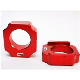 Registri tendi catena honda crf 450 x 02-17 rosso