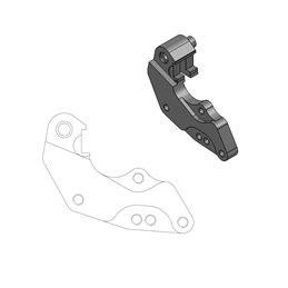 Distanziale pinza freno 298 mm KTM 450 SX-F 09-18 per disco freno