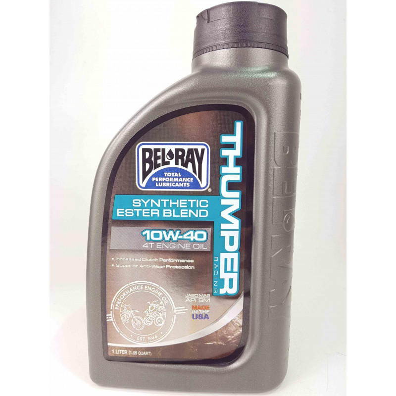 Bel-Ray 10W 40 Thumper Racing Synthetic Ester Blend 4T Olio motore-5995201-Bel-Ray lubrificanti