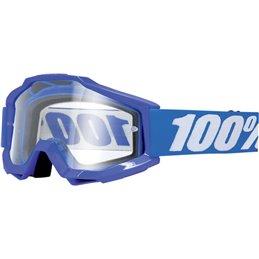 Maschera 100% accuri modello REFLEX BLUE OFFROAD lente chiara-26011499-100% ricambi per moto