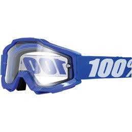 Maschera 100% accuri modello REFLEX BLUE ENDURO lente chiara-26011868-100% ricambi per moto