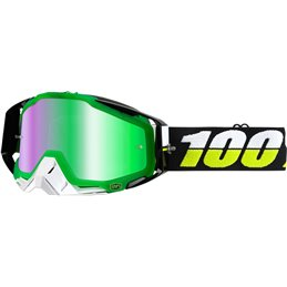 RACECRAFT SIMBAD OFFROAD GOGGLE W/ MIRROR GREEN LENS