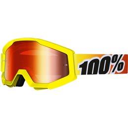 Maschera motocross modello Strata 100% SUNNY DAYS OFFROAD lente rossa a specchio-26011994-100%