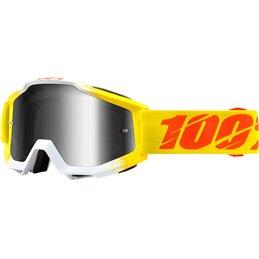 Maschera 100% accuri modello ZEST OFFROAD Lente a specchio argento-26012018-100% ricambi per moto