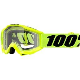 Maschera 100% accuri modello Ragazzino Offroad giallo fluo- lente