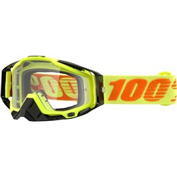 RACECRAFT ATTACK YELLOW OFFROAD GOGGLE W/ CLEAR LENS