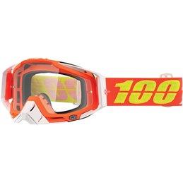 Maschera 100% modello Racecraft RAZMATAZ OFFROAD lente chiara-26012147-100% ricambi per moto