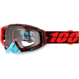 Maschera 100% modello Racecraft KIKASS OFFROAD lente chiara-26012260-100% ricambi per moto