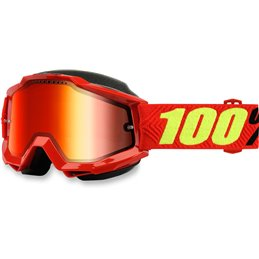 ACCURI RED SNOW GOGGLE W/ MIRROR RED LENS