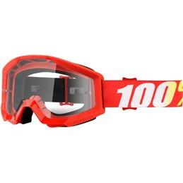 Maschera motocross modello Strata 100% FURNACE OFFROAD lente chiara-26012425-100% ricambi per moto