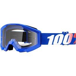 Maschera motocross modello Strata 100% Ragazzino NATION OFFROAD lente chiara-26012450-100% ricambi