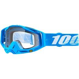 Maschera 100% modello Racecraft MONOBLOCK OFFROAD lente chiara-26012474-100% ricambi per moto