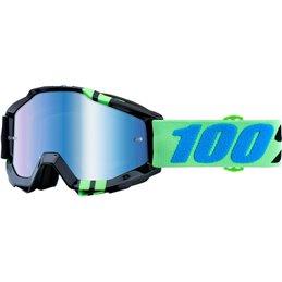 Maschera 100% accuri modello ZERG OFFROAD lente a specchio blu-26012480-100% ricambi per moto