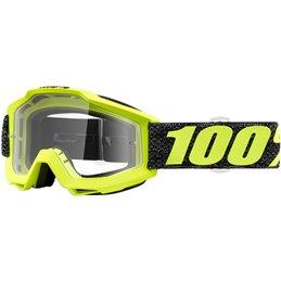 Maschera 100% accuri modello TRESSE OFFROAD lente chiara-26012483-100% ricambi per moto