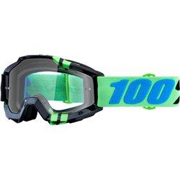 Maschera 100% accuri modello ZERG OFFROAD lente chiara-26012484-100% ricambi per moto