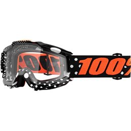 Maschera 100% accuri modello GASPARD OFFROAD lente chiara-26012485-100% ricambi per moto