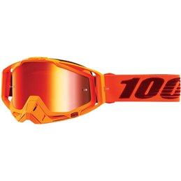 Maschera 100% modello Racecraft MENLO OFFROAD lente rossa a specchio-26012520-100% ricambi per moto