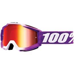 Maschera 100% accuri modello FRAMBOISE OFFROAD lente rossa a specchio-26012535-100% ricambi per moto