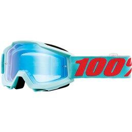 Maschera 100% accuri modello MALDIVES OFFROAD Lente a specchio flash blu-26012536-100% ricambi per