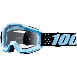 Maschera 100% accuri modello TAICHI OFFROAD lente chiara-26012537-100% ricambi per moto