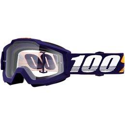 Maschera 100% accuri modello GRIB OFFROAD lente chiara-26012540-100% ricambi per moto
