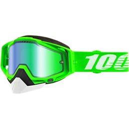 RiMoToShop Goggle MX Snow 100% ORG2 DL MIR GN-100% ricambi per moto
