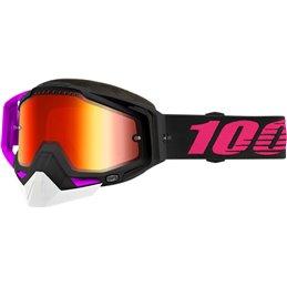 RiMoToShop|Goggle MX Snow 100% HARBO DL MIR RD-100% ricambi per moto