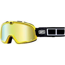 RiMoToShop|Goggle MX BARSTOW BURNWORTH RACING Gold mirror lens-100% ricambi per moto