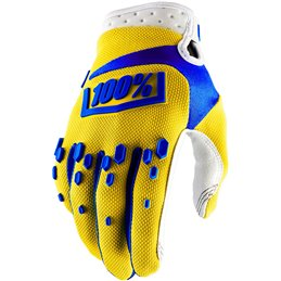 AIRMATIC SHORT GLOVES YELLOW LARGE