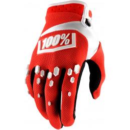 Guanti Motocross modello AIRMATIC Motocross enduro rossi 100%-33305013-100% ricambi per moto