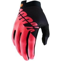 Guanti 100% modello ITRACK BK/FL RD Motocross enduro-33305675-100% ricambi per moto