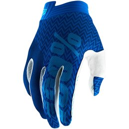 ITRACK SHORT GLOVES BLUE/NAVY LARGE--33305678-100% ricambi per