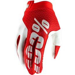 ITRACK SHORT GLOVES RED/WHITE LARGE--33305683-100% ricambi per