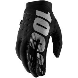 Guanti Moto 100% modello BRISKER nero- grigio-33305718-100% ricambi per moto