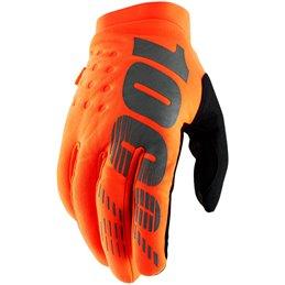 Guanti Moto 100% modello BRISKER arancioni-33305727--100% ricambi per