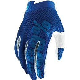 YOUTH ITRACK SHORT GLOVES BLUE/NAVY LARGE--33321422-100%