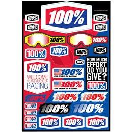 Kit adhésifs 100%--99040979-100% ricambi per moto