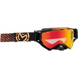 Occhiali Motocross Enduro MOOSE XCRCAMO Giallo/Arancione-26012342-Moose racing