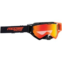 Occhiali Motocross Enduro MOOSE XCRHATCH Nero/Arancione-26012346-Moose racing