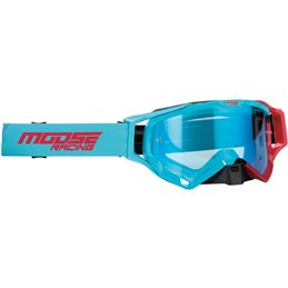 Occhiali Motocross Enduro MOOSE XCRHATCH BLU/Rosso-26012347-Moose racing