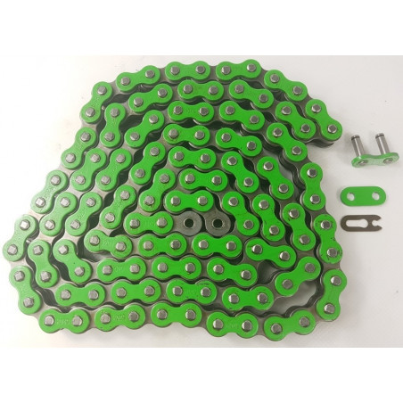 Catena MX Chain 520 cross-economica senza O-RING 120 maglie - verde