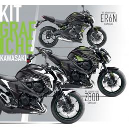 Graphics Kit Stickers 2017 Kawasaki Z900 Black White