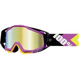 Goggle MX 100% model Racecraft HYPERION OFFROAD Gold mirror lens
